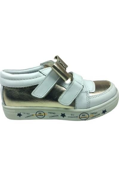 Raduno Patik Kız Çocuk Spor Ayakkabı Beyaz - Dore Dore Taşlı Fiyonklu Cırtlı