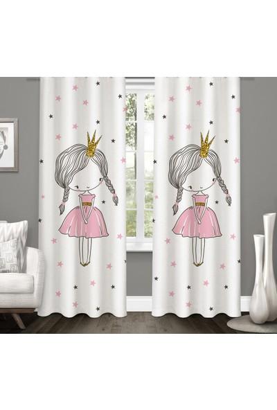 Karnaval Küçük Prenses Fon Perde - Çift Kanat