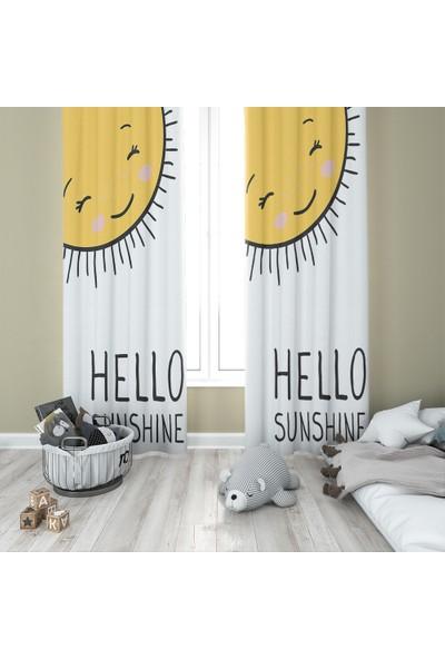 Karnaval Hello Sunshine Fon Perde - Çift Kanat