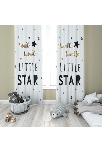 Karnaval Twinkle Star Fon Perde - Sağ Kanat