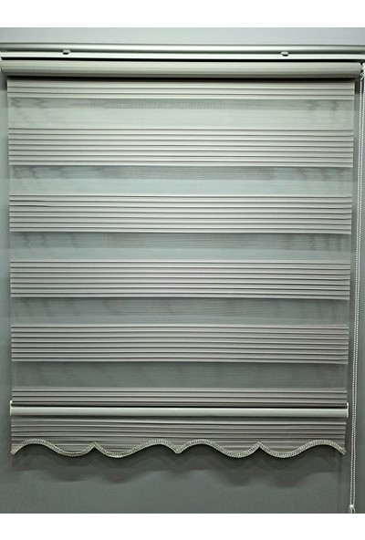 BBB Pliseli Açık Gri Stor Zebra Perde MZ485