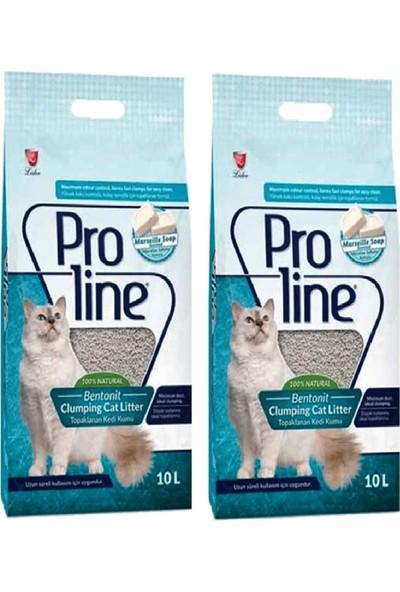 Pro Line Marsilya Sabunu Kokulu Topaklanan Kedi Kumu 10 Lt (2 Adet)