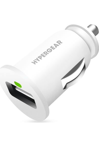 HyperGear Araç Şarjı Tekli 2.1A - Beyaz
