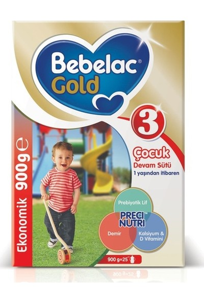 Bebelac Gold 3 Devam Sütü 900 gr 1 Yaşından İtibaren
