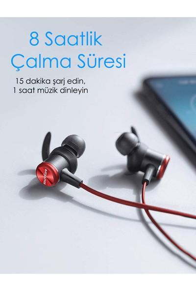 Anker SoundCore Spirit Kablosuz Bluetooth 5.0 Spor Kulaklık - IPX7 Suya Dayanıklılık - 8 Saate Varan Şarj - Siyah Kırmızı - A3403