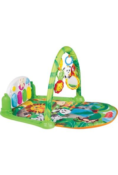 Babies Sevimli Orman Piyanolu Aynalı 5in1 Oyun Halısı Çıngıraklı Diş Kaşıyıcılı Müzikli