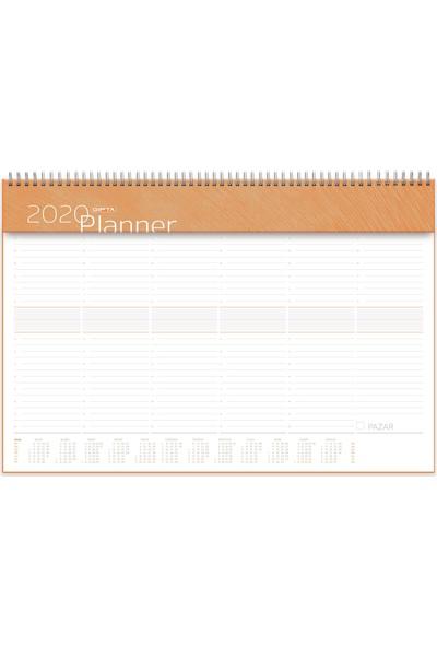 Gıpta 252-Smk 40 x 28 Spiralli Haftalık Tarihsiz Planner Masaüstü Planlayıcı