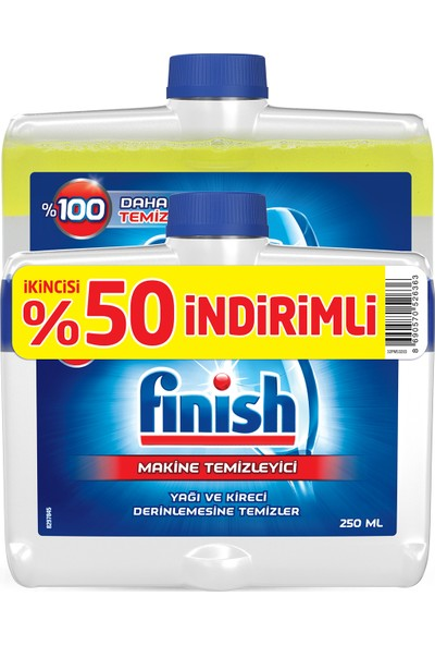 Finish Bulaşık Makinesi Deterjanı Makine Temizleyici Sıvı 2x250 ml