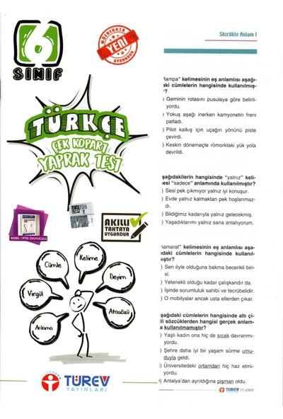 Türev Yayınları 6. Sınıf Türkçe Çek Kopart Yaprak Test