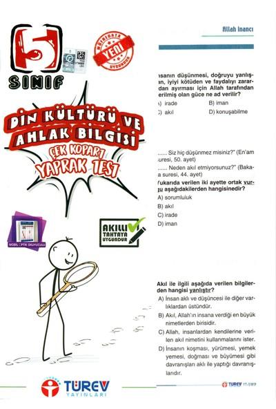 Türev Yayınları 5.Sınıf Din Kültürü Çek Kopart