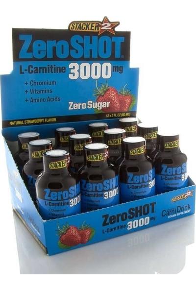 Zero Shot L-Carnitin 3000 Mg 60 ml 12 Shot Thermo Likit Karnitine