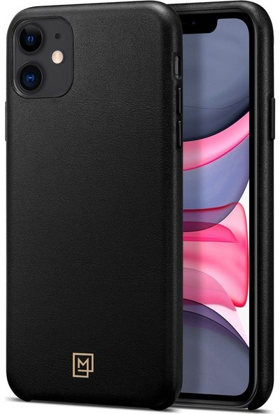 Spigen Apple iPhone 11 Kılıf La Manon Câlin Premium Deri Tasarım Chic Black - 076CS27088