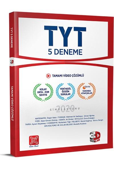 Çözüm Yayınları TYT 3D 5'li Paket Deneme Sınavı