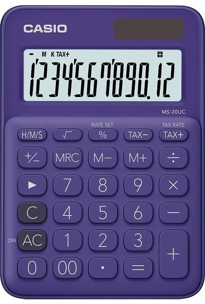 Casio Ms20Ucpl 12 Haneli Masaüstü Hesap Makinesi
