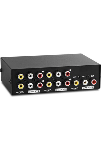 S-Link Sl-43Av 4Lü Av Switch