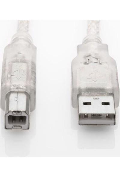 S-Link Sl-U2005 S-Lınk 5 Metre Usb 2.0 Şeffaf Yazıcı Kablosu