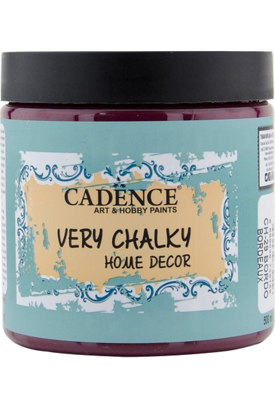 Cadence Very Chalky Mobilya Boyası 500 ml CH29 Bordo