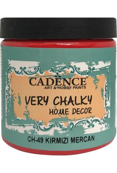 Cadence Very Chalky Mobilya Boyası 500 ml CH49 Mercan Kırmızı
