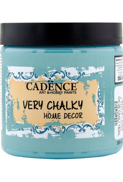 Cadence Very Chalky Mobilya Boyası 500 ml CH26 Canlı Yeşil
