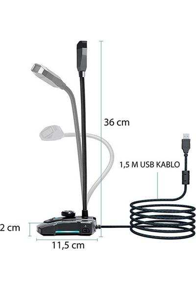 Rampage Sn-Rmx9 USB Oyuncu Masaüstü Mikrofon - Siyah