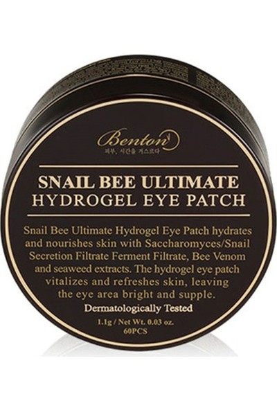 Benton Snail Bee Ultimate Hydrogel Eye Patch - Salyangoz Özlü Göz Cilt Maskesi