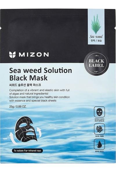 Mizon Sea Weed Solution Black Mask - Deniz Yosunu Özlü Sıkılaştırıcı Maske