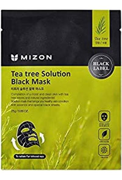 Mizon Tea Tree Solution Black Mask - Çay Ağacı Özlü Yatıştırıcı Siyah Maske