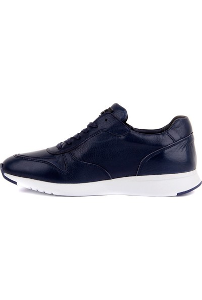 Sail Laker's Lacivert Deri Erkek Günlük Ayakkabı