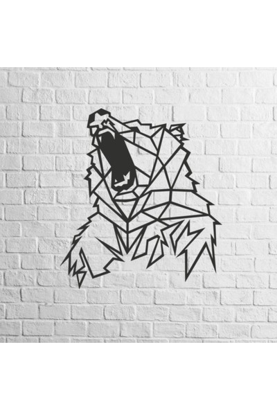 Karaçam Dekor Dekoratif Ahşap Tablo - Boz Ayı Lazer Kesim