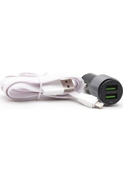 Ldnio C403 Araç Şarj Cihazı + Lightning Kablo