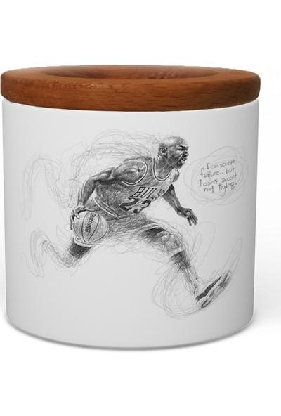 Wuw Michael Jordan Run Ahşap Kapaklı Seramik Kalemlik