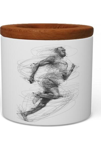 Wuw Usain Bolt Ahşap Kapaklı Seramik Kalemlik