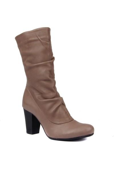 Sail Laker's Vizon Deri Kadın Çizme
