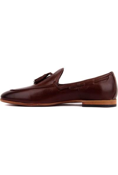 Sail Laker's Kahverengi Deri Erkek Ayakkabı