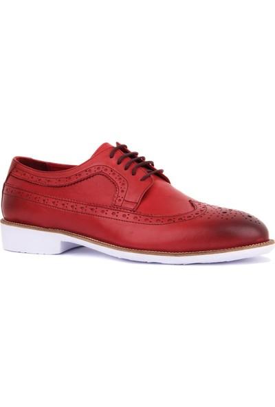 Sail Laker's Hakiki Deri Bordo Renk Günlük Erkek Ayakkabı