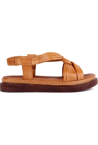 Pierre Cardin Taba Deri Kadın Sandalet