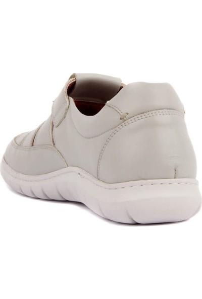 Sail Laker's Gri Deri Erkek Sandalet