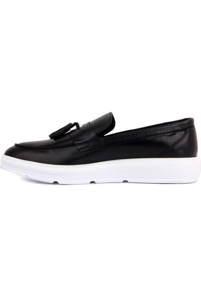 Sail Laker's Siyah Deri Erkek Ayakkabı