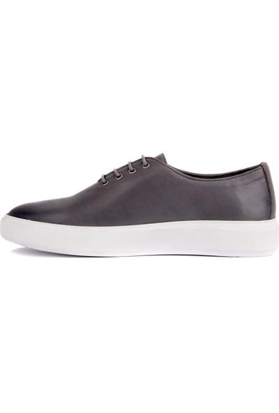 Sail Laker's Gri Deri Erkek Sneaker