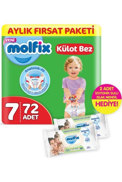 Molfix Külot Bez XX Large 72 Adet + 2 Adet İzotonik Sulu Islak Mendil Ferah Temizlik