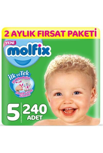 Molfix 3D Bebek Bezi 5 Beden Junior 2 Aylık Fırsat Paketi 240 Adet