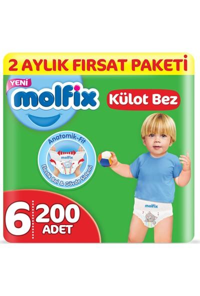 Molfix Külot Bez 6 Beden Extralarge 2 Aylık Fırsat Paketi 200 Adet