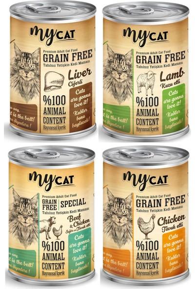 My Cat Tahılsız Kedi Konservesi 415 g Karışık 4'lü Paket