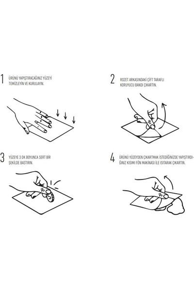 Lavella Yapışkanlı Paslanmaz Kağıt Havluluk Rulo Havlu Askısı