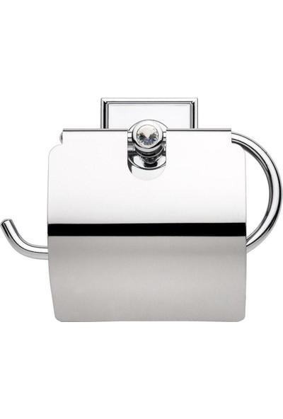 Lavella Yapışkanlı Paslanmaz Kapaklı Wc Tuvalet Kağıtlığı