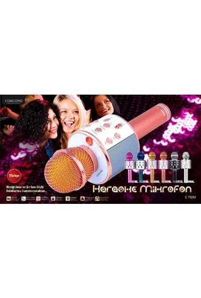 Concord C-792 Bt/tf/usb/fm Pembe Karaoke Mikrofon Pembe