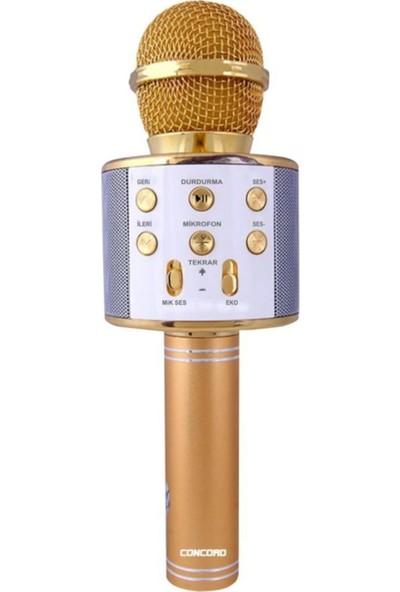 Concord C-792 Bt/tf/usb/fm Gold Karaoke Mikrofon Sarı