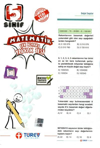 Türev Yayınları 5. Sınıf Matematik Çek-Kopar Yaprak Test