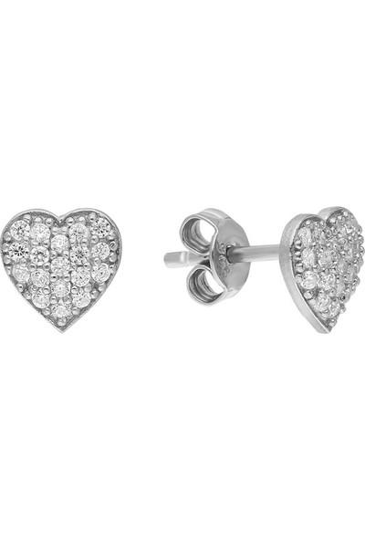 Glorria Eg0455 Gümüş Kalp Küpe