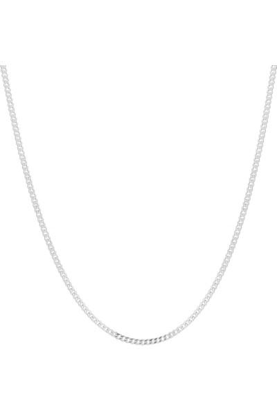 Glorria Es0124 Gümüş Düz Zincir